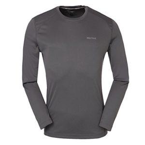 Marmot 土拨鼠 男士 超轻透气防晒吸湿排汗小LOGO长袖速干T恤 F604101415
