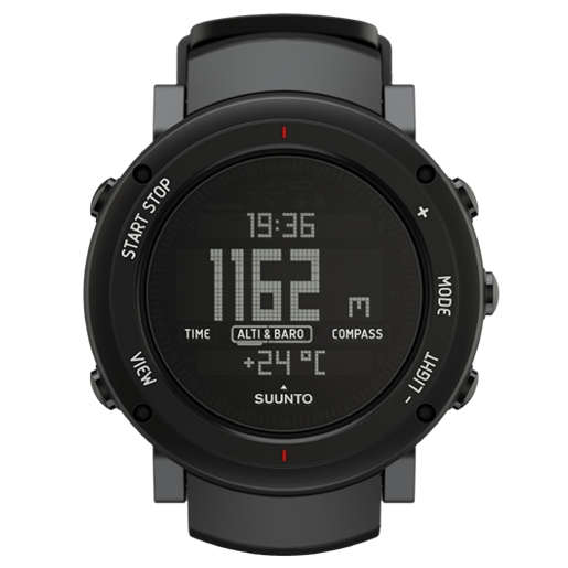 SUUNTO Core Alu Deep Black Digital Watch 颂拓 户外手表