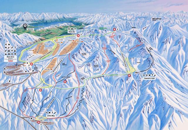 滑雪胜地,新西兰南岛瓦纳卡Cardrona滑雪初体验