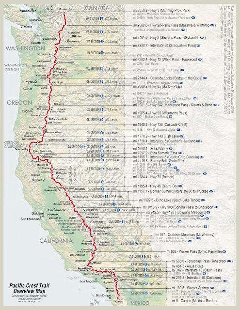 徒步美国太平洋屋脊步道,PCT徒步指南