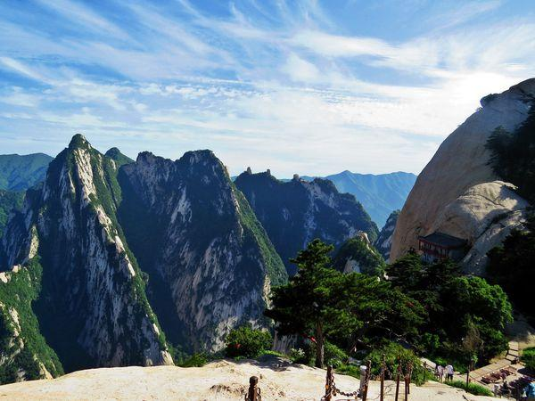 西安华山一日游,全程徒步西岳华山五峰全攻略